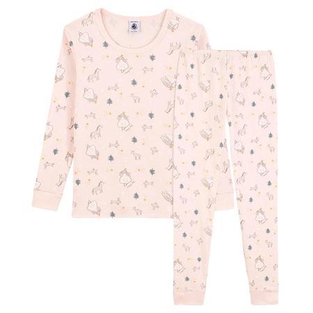 Kids Petit Bateau Child Tulle Pyjamas Set - Pink