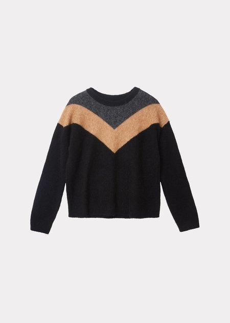 Caramel jumpe sweater - Black/Camel