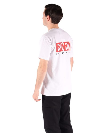 Eden Recycled Short Sleeve Tee - White/Red