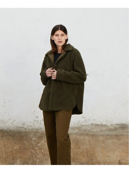 Ali Golden Shearling Jacket - Faded Olive