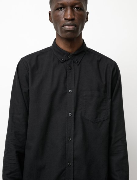 Norse Projects Anton Brushed Flannel Shirt - Black