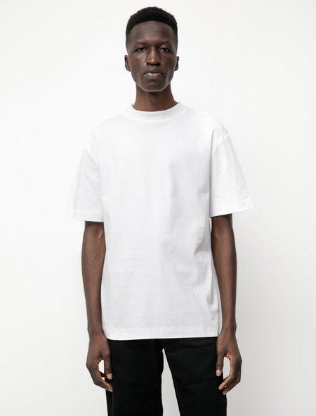 Sunspel Mock Neck T-Shirt - White
