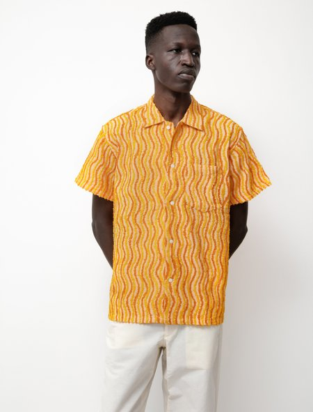 unisex BODE Wavy Chenille Shirt - Orange