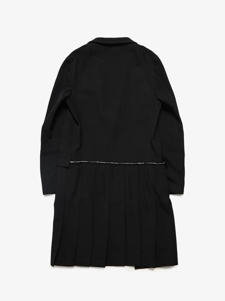 PRE-LOVED Comme Des Garcons Homme Plus M Flared Wool Coat - BLACK