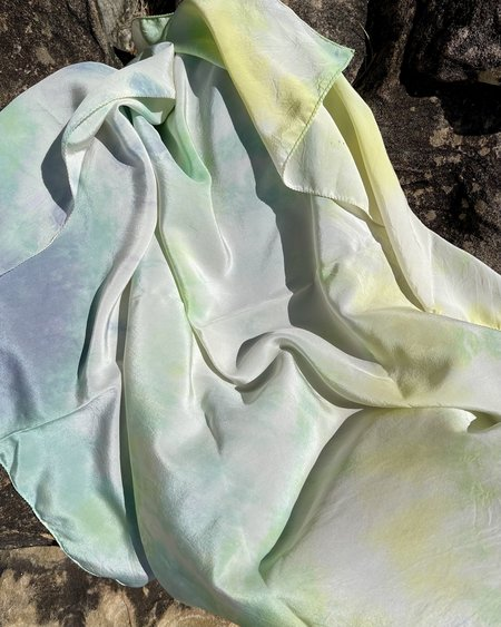 FIELD TIE DYE scarf -  lime