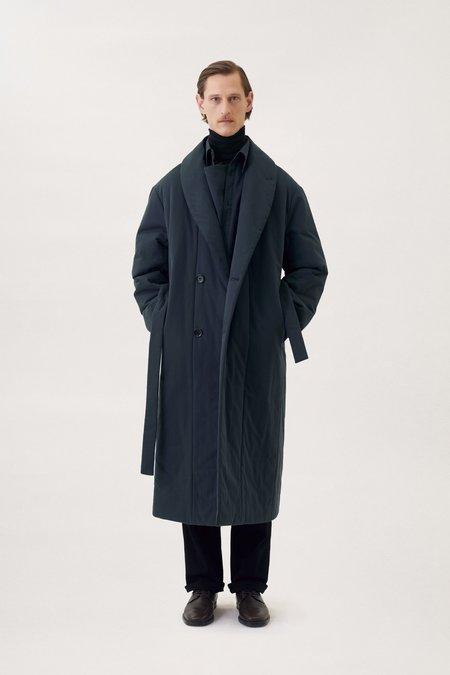 Lemaire Wadded bathrobe coat - vulcan blue
