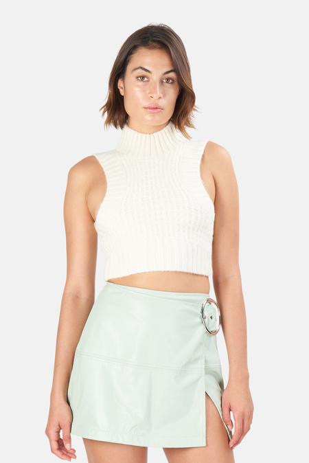 Women's For Love & Lemons Dominique Crop Tank Sweater Top - Ivory