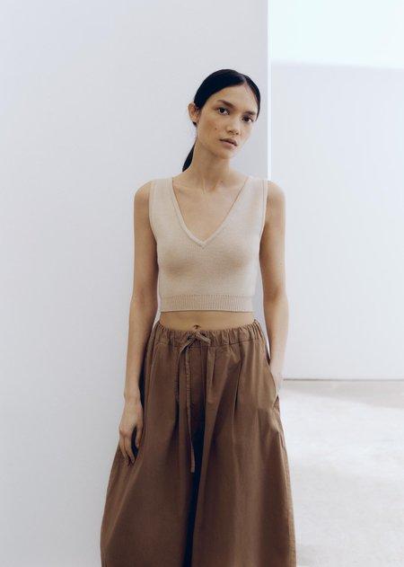 Mónica Cordera Cotton Maxi Pant - Caramel