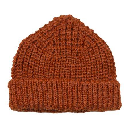 cableami  British Wool Short Beanie - Orange