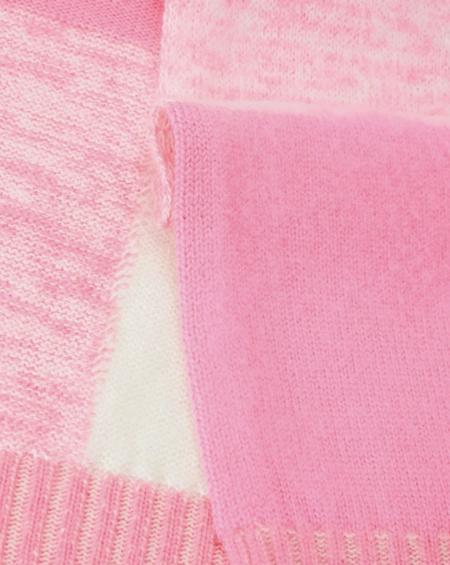 Iceberg Maxi Check Scarf - Pink