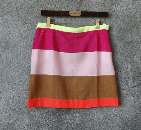 LEMLEM Striped Mini Skirt