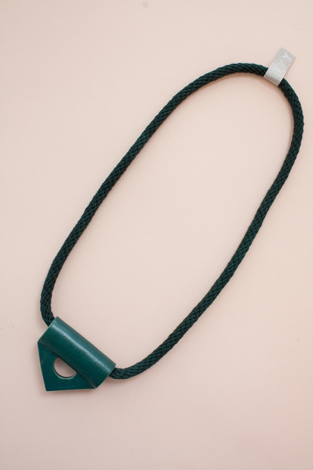 YYY Collection Emerald Triangle Necklace