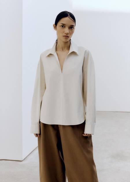 Mónica Cordera Double Collar Shirt - Ecru