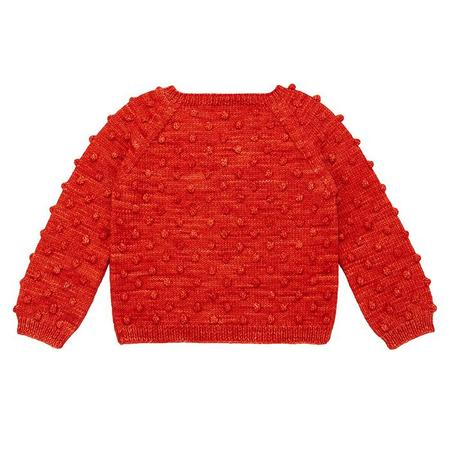 Kids Misha & Puff Popcorn Sweater - Red Flame