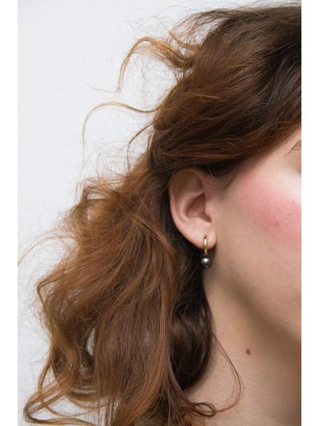 Quarry Small Asha Hoop Earrings, Hematite