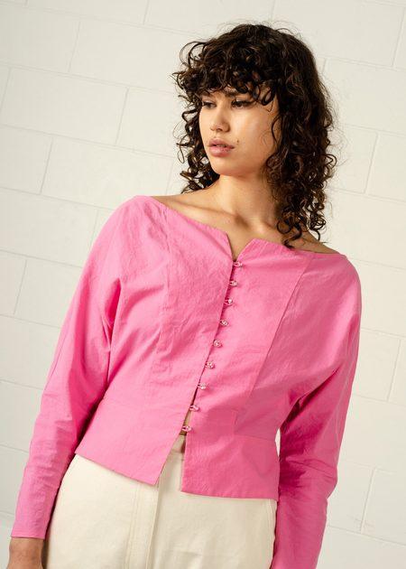 Penny Sage Peterman Shirt - Barbie Pink