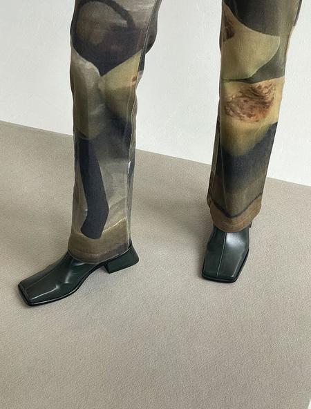 Paloma Wool Cosima Midi Boot - Forest Green