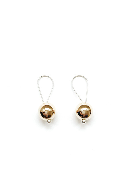 Honey & Bloom Big Baller Drop Earrings 14K Yellow Gold