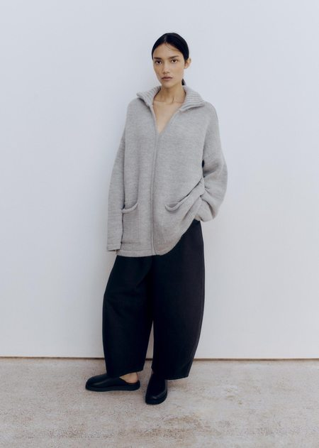 Mónica Cordera Ecowool Polo Sweater - Silver Grey