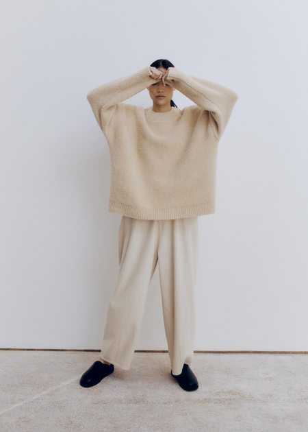 Mónica Cordera Shearling Sweater - Beige