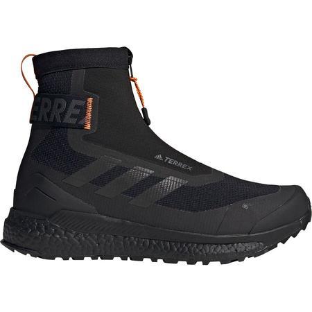 Adidas TERREX FREE HIKER COLD.RDY HIKING BOOTS - Core Black/ Core Black/ Orange