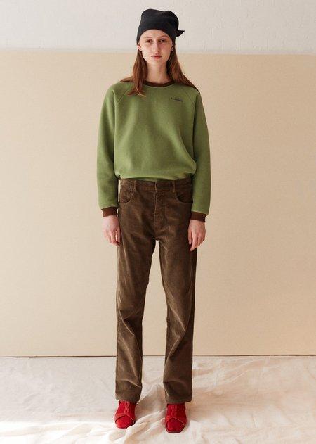 Caramel Slim Trousers - Olive Green