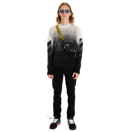 OFF-WHITE Diag Brushed Sweater - black