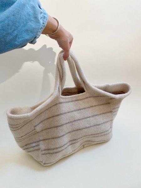 Lauren Manoogian Lines Knit Market Bag - Ecru