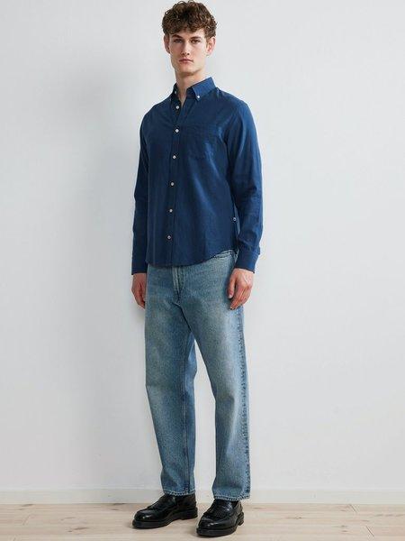 NN07 Levon Cotton Shirt - Ocean
