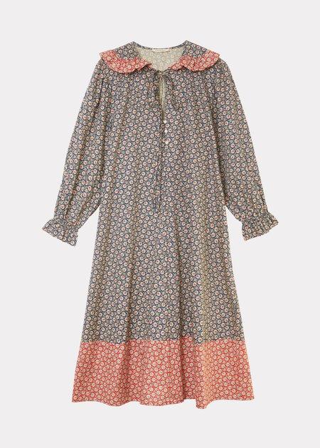 Caramel Frill Dress - Navy