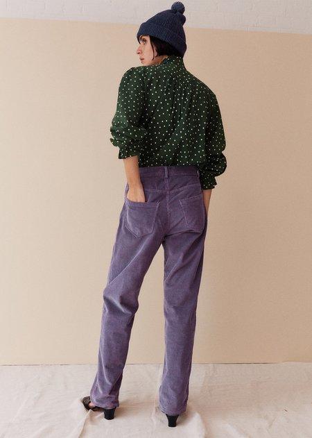 Caramel Slim Trousers - Amethyst