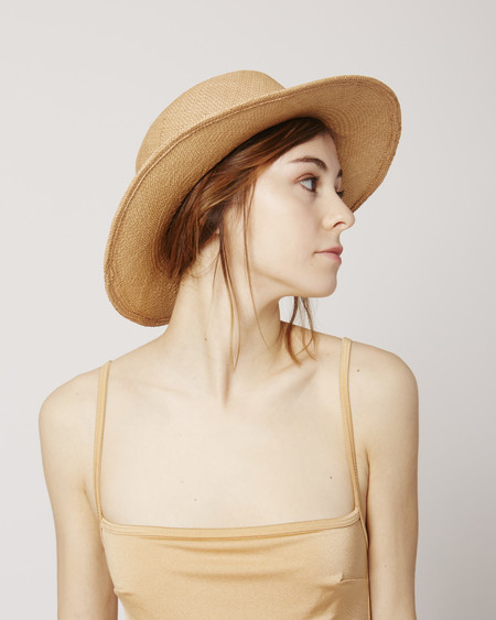 Brookes Boswell Jackson tan straw hat