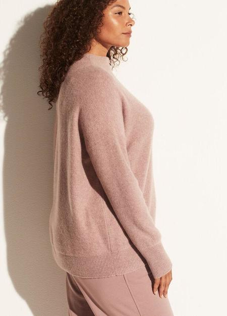 VINCE Boiled Funnel Neck Pullover - Pink Shell