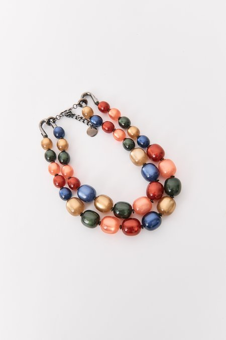 pre-loved Pono Beaded Necklace - Red Multi