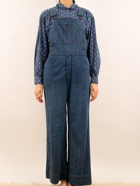 Vintage 1970's denim overalls - blue