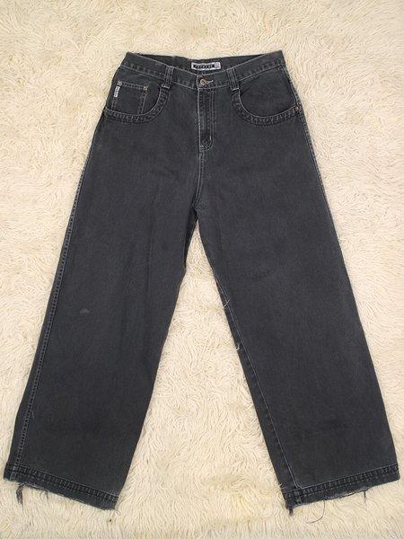 vintage brody extreme dragon detail jeans - grey/black