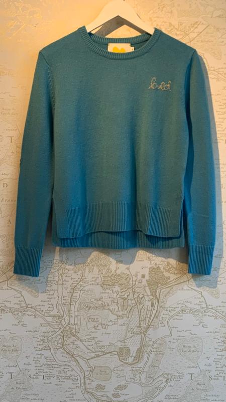 Kerri Rosenthal Patchwork Love Cashmere Sweater - BLUE
