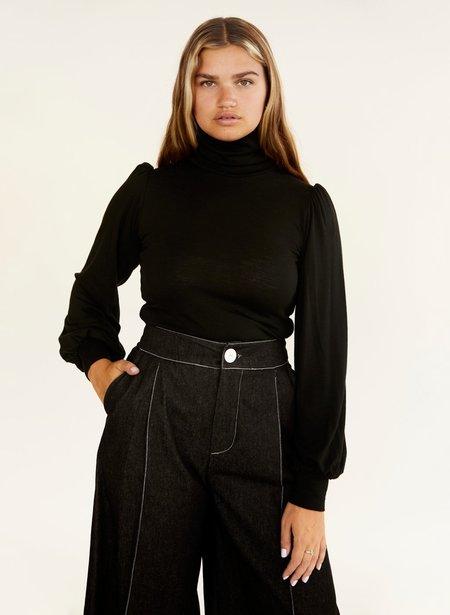 Eliza Faulkner Merino Wool Dolly Turtleneck - Black
