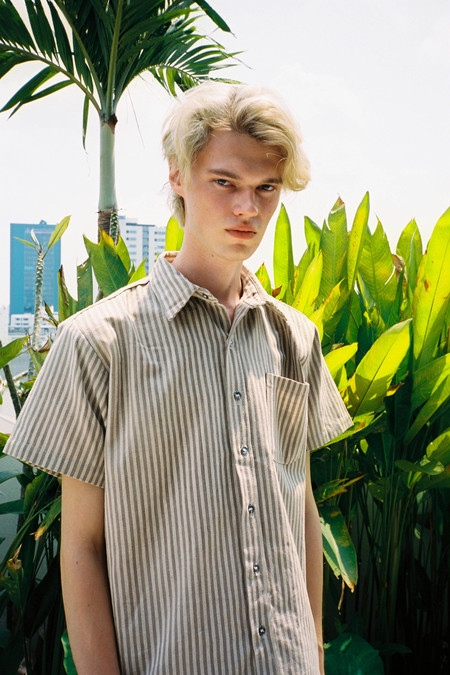 Seeker Studios Essential Short Sleeve Shirt - Neutral Stripes
