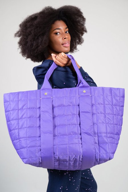 Clare V. Quilted Puffer Giant Trop - Iris