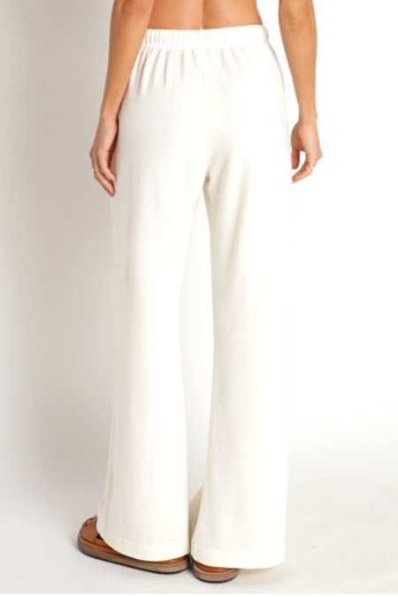 Donni. Sweater Wide Leg Pants - Cream