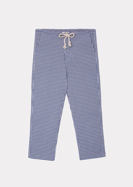 Caramel Judo Trousers - Blue Check