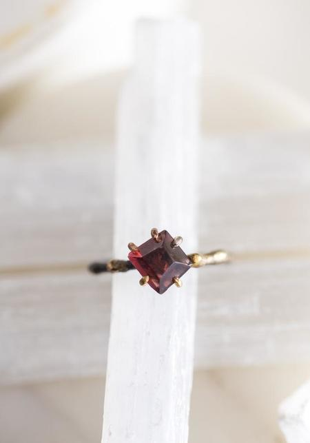 Variance Objects 14k-24k Gold, Sterling Silver and Malawi Garnet Ring - Silver