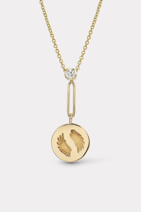 Retrouvai Mini Bravery Pendant - Gold