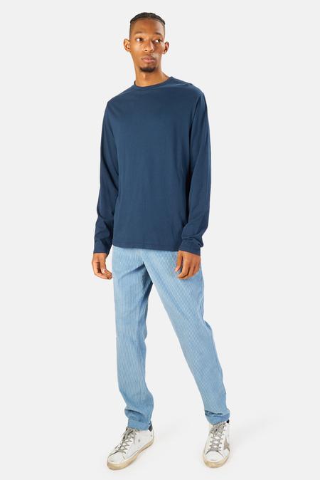 04651/ 04651 Organic Long Sleeve T-Shirt - Navy