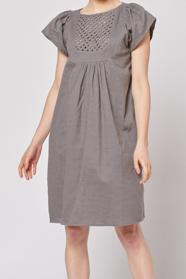 Built by Wendy Lattice Dress - Grey