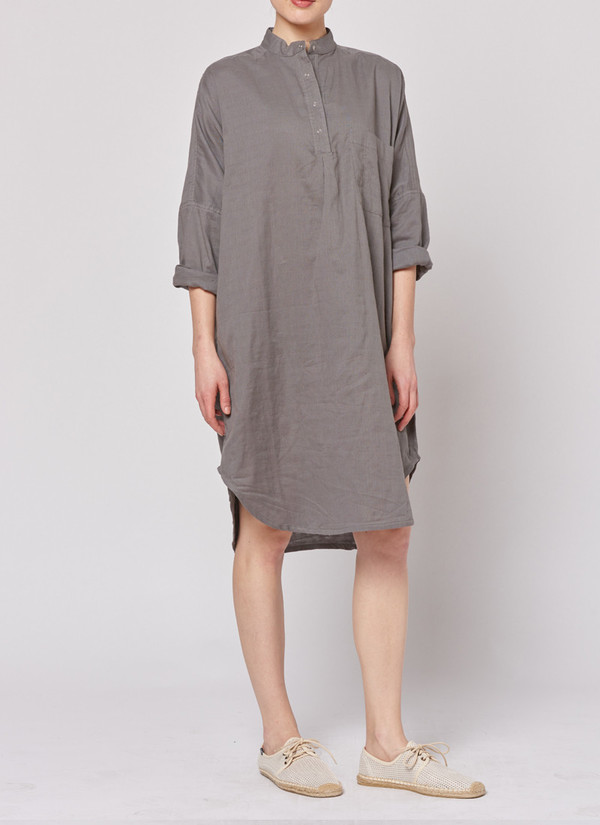 Built by Wendy Smock Dress - Grey