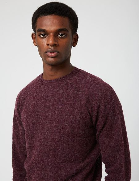 Bhode Supersoft Lambswool Jumper - Pagan Purple