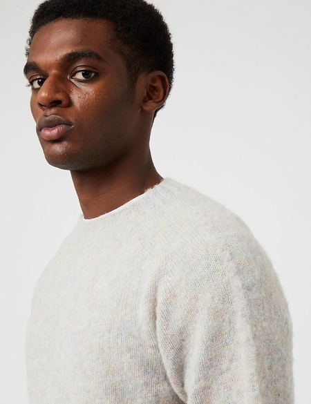 Bhode Supersoft Lambswool Jumper - Ugie Pearl