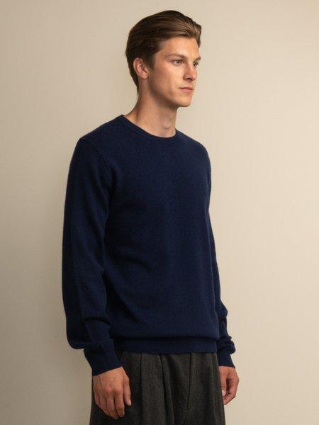 PURECASHMERE NYC Crew Neck Sweater - Navy